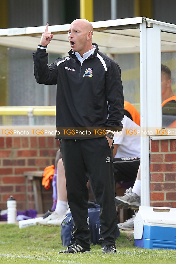 Thurrock manager Mark Stimson - Romford vs Thurrock - FA Challenge Trophy 1st Round Football at Ship Lane, Thurrock FC - 29/09/12 - MANDATORY CREDIT: Gavin Ellis/TGSPHOTO - Self billing applies where appropriate - 0845 094 6026 - contact@tgsphoto.co.uk - NO UNPAID USE.