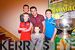 The Twomey family - Liam, Conor, Dan and Niamh with the Sam Maguire and Kerry footballer, Aidan O'Mahony.
