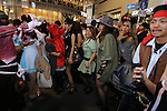 People in costumes cross Shibuya scramble crossing on halloween in Tokyo, Japan October 31, 2014.  (Photo by Yuriko Nakao /AFLO)
