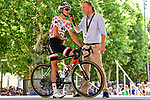 Polka Dot Jersey Warren Barguil (FRA) Team Sunweb at sign on before Stage 16 of the 104th edition of the Tour de France 2017, running 165km from Le Puy-en-Velay to Romans-sur-Isere, France. 18th July 2017.<br /> Picture: ASO/Alex Broadway | Cyclefile<br /> <br /> <br /> All photos usage must carry mandatory copyright credit (&copy; Cyclefile | ASO/Alex Broadway)