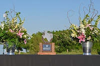 The trophy stands ready for presentation following the Volunteers of America LPGA Texas Classic, at the Old American Golf Club in The Colony, Texas, USA. 5/6/2018.<br /> Picture: Golffile | Ken Murray<br /> <br /> <br /> All photo usage must carry mandatory copyright credit (&copy; Golffile | Ken Murray)