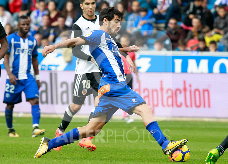 Deportivo Alaves' Manu Garcia during La Liga match. October 28,2017. (ALTERPHOTOS/Acero)