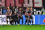 06.10.2019, Commerzbankarena, Frankfurt, GER, 1. FBL, Eintracht Frankfurt vs. SV Werder Bremen, <br /> <br /> DFL REGULATIONS PROHIBIT ANY USE OF PHOTOGRAPHS AS IMAGE SEQUENCES AND/OR QUASI-VIDEO.<br /> <br /> im Bild: Freude ueber das Tor zum 2;1 durch Andre Silva (Eintracht Frankfurt #33)<br /> <br /> Foto © nordphoto / Fabisch