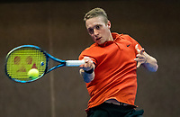 Alphen aan den Rijn, Netherlands, December 14, 2018, Tennispark Nieuwe Sloot, Ned. Loterij NK Tennis,  Jelle Sels (NED)<br /> Photo: Tennisimages/Henk Koster