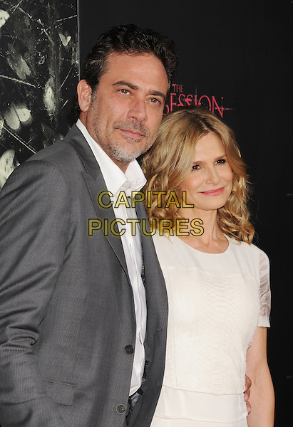 "Jeffrey Dean Morgan & Kyra Sedgwick.""The Possession"" Los Angeles Premiere held at Arclight Cinemas, Hollywood, California, USA..August 28th, 2012.half dress white shirt grey gray suit jacket sheer stubble facial hair hand in pocket .CAP/ROT/TM.©Tony Michaels/Roth Stock/Capital Pictures"