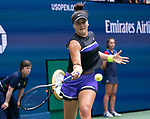 September 7,2019:  Bianca Andreescu (CAN) defeats Serena Williams (USA) 6-3, 7-5, at the US Open being played at Billie Jean King National Tennis Center in Flushing, Queens, NY.  ©Jo Becktold/CSM