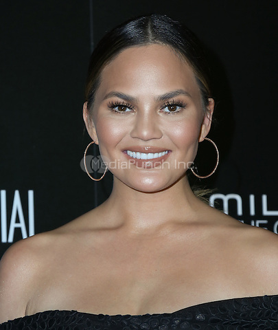 LOS ANGELES, CA - NOVEMBER 06: Chrissy Teigen arrives at the 9th Hamilton Behind The Camera Awards at Exchange LA on November 6, 2016 in Los Angeles, California. (Credit: Parisa Afsahi/MediaPunch).