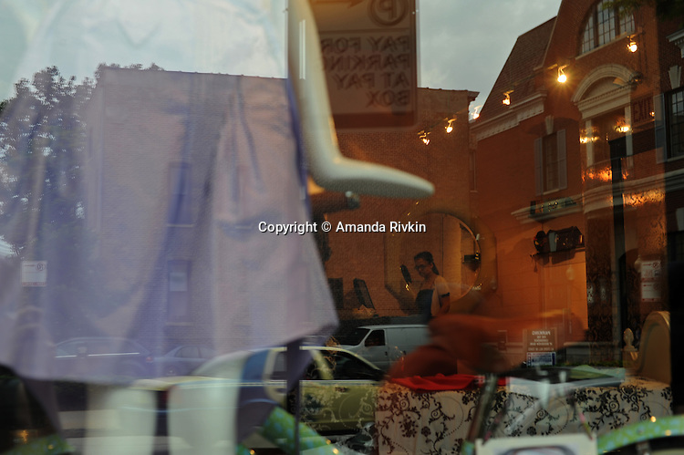 Cynthia Rowley's boutique, which was one of the earliest to set up shop on Armitage Street near Halsted Street, is seen in Chicago, Illinois June 19, 2009.