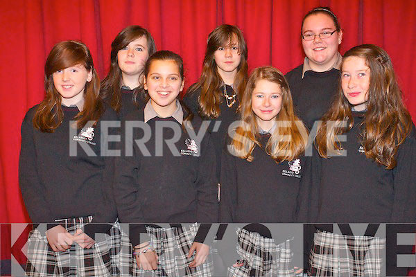 First year students from Killarney Community College at the world renowned cross border orchestra of Ireland at the INEC last Thursday. .Front L-R Megan Brosnanm Razia McCannon, Nicole  Riordan and Chelsea Coffey. .Back L-R Amy Malone, Louise Lanigan and Michelle Murphy.