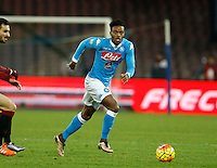 Napoli's Nathaniel Chalobah during the  italian serie a soccer match,between SSC Napoli and Torino      at  the San  Paolo   stadium in Naples  Italy , January 07, 2016