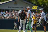 Justin Thomas (USA) is introduced on the green on 9 during 4th round of the 100th PGA Championship at Bellerive Country Club, St. Louis, Missouri. 8/12/2018.<br /> Picture: Golffile | Ken Murray<br /> <br /> All photo usage must carry mandatory copyright credit (&copy; Golffile | Ken Murray)