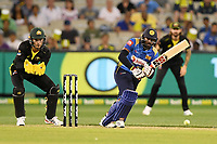 1st November 2019; Melbourne Cricket Ground, Melbourne, Victoria, Australia; International T20 Cricket, Australia versus Sri Lanka; Bhanuka Rajapaksa of Sri Lanka runs after flicking the ball - Editorial Use