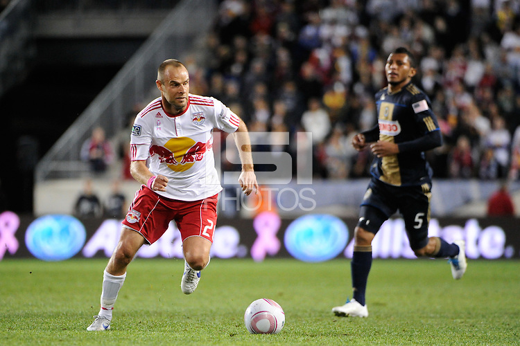 Joel Lindpere (20) of the New York Red Bulls. The New York Red Bulls defeated the Philadelphia Union  1-0 during a Major League Soccer (MLS) match at Red Bull Arena in Harrison, NJ, on October 20, 2011.