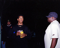 Craig Mack, the New York rapper who scored a 1994 hit with Flava in Ya Ear, has died of heart failure, aged 46<br /> ***FILE PHOTO*** Craig Mack Has Passed Away<br /> Craig Mack and Biggie Smalls (Notorious BIG)<br /> Philadelphia, PA<br /> 1994<br /> CAP/MPI/BUN<br /> &copy;BUN/MPI/Capital Pictures