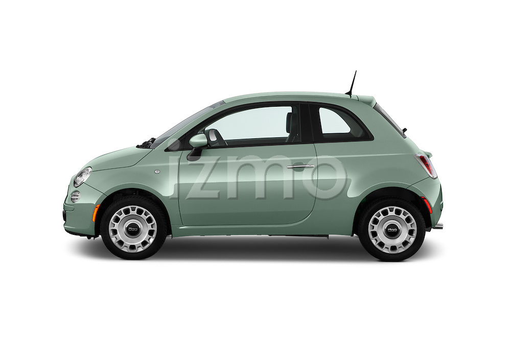 Car Driver side profile view of a 2016 Fiat 500 Pop 3 Door Hatchback Side View