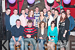 ENGAGED: Michael Scanlon, Lisselton and Martina Hayes, Ardagh, Limerick (seated centre) celebrated their engagement with family and friends at Tomaisian's Bar, Lisselton on Saturday night.   Copyright Kerry's Eye 2008