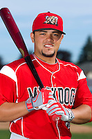 Batavia Muckdogs catcher Jesus Montero #55 poses for a photo during media day at Dwyer Stadium on June 14, 2012 in Batavia, New York.  (Mike Janes/Four Seam Images)