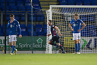 29th December 2019; McDairmid Park, Perth, Perth and Kinross, Scotland; Scottish Premiership Football, St Johnstone versus Ross County; Iain Vigurs of Ross County celebrates after scoring for 1-0 in the 72nd minute - Editorial Use