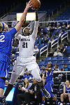 Nevada's Nyasha LeSure shoots against Air Force defender Taylor Parker during a women's basketball game in Reno, Nev., on Saturday, Jan. 9, 2016. Nevada won 68-57.<br /> Photo by Cathleen Allison