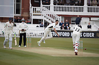 Steven Finn of Middlesex CCC bowls to Haseeb Hameed of Lancashire CCC during Middlesex CCC vs Lancashire CCC, Specsavers County Championship Division 2 Cricket at Lord's Cricket Ground on 12th April 2019