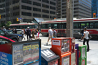 Toronto,  CANADA - File Photo - Downtown Toronto - TTC Tramway.<br /> <br /> Photo :  Agence Quebec Presse - Pierre Roussel