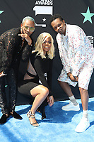 LOS ANGELES, CA - JUNE 23: Eric Bellinger, Karen Civil and BJ The Chicago Kid at the 2019 BET Awards at the Microsoft Theater in Los Angeles on June 23, 2019. Credit: Walik Goshorn/MediaPunch