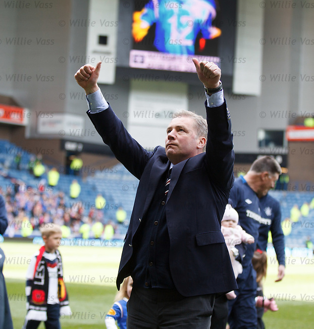 Ally McCoist thanks the fans for all their support over a long and troubled season