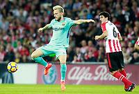 Athletic de Bilbao's Mikel San Jose (r) and FC Barcelona's Ivan Rakitic during La Liga match. October 28,2017. (ALTERPHOTOS/Acero) /NortePhoto.com