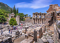 Travel Print Photograph of the ancient ruins of Ephesus in Kusadasi, Turkey.