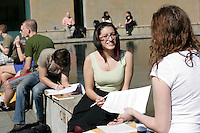 04062009-  Seattle University Campus, Chapel of St. Ignatius, warm weather, start of spring quarter, outdoor studying