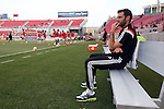 09 August 2014: DC United head coach Ben Olsen. Real Salt Lake hosted DC United at Rio Tinto Stadium in Sandy, Utah in a 2014 Major League Soccer regular season game. Salt Lake won the game 3-0.