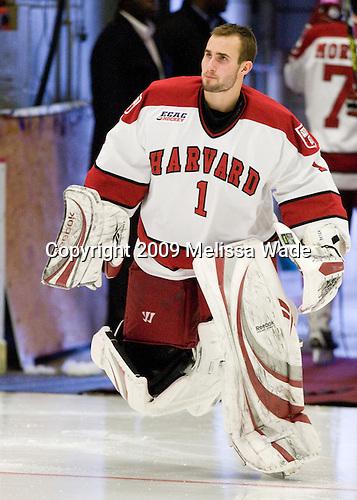 John Riley (Harvard - 1) - The Harvard University Crimson defeated the Dartmouth College Big Green 4-1 (EN) on Monday, January 18, 2010, at Bright Hockey Center in Cambridge, Massachusetts.