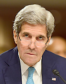 United States Secretary of State John F. Kerry appears before the US Senate Committee on Foreign Relations hearings to examine Iran nuclear agreement review on Capitol Hill in Washington, DC on Thursday, July 23, 2015.<br /> Credit: Ron Sachs / CNP