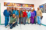 "Artist Reception for Seeing with Photography Collective SWPC, a group of visually impaired, sighted and totally blind photographers based in NYC, on Saturday, April 28, 2012, at African American Museum, Hempstead, New York, USA. Group photo of photographers included: (standing) starting with 3rd person from left: John Gardner, Dale Layne, Tameka Cooper, Victorine Floyd Fludd, Marion Sheppard, and Hasheem Kirkland. Exhibit hosted by Long Island Center of Photography. Aperture published the group's ""Shooting Blind: Photographs by the Visually Impaired"" in 2005."