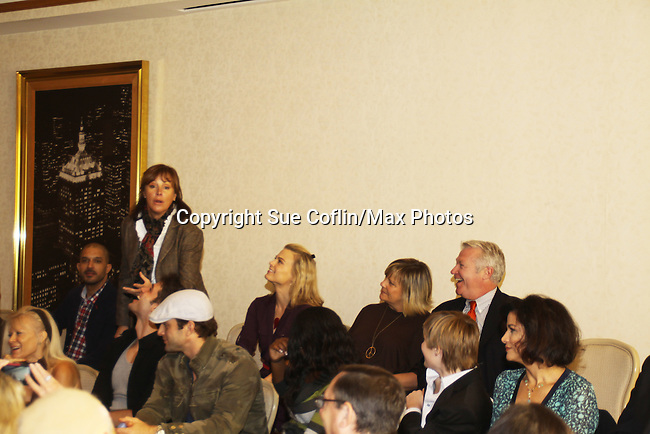 Actors all on stage at The One Life To Live Lucheon at the Hemsley Hotel in New York City, New York on October 9, 2010. (Photo by Sue Coflin/Max Photos)