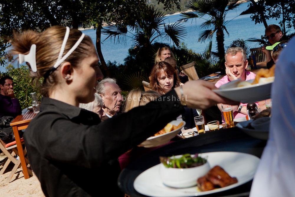 Restaurant La Tonnelle, Ile Saint Honorat, les Îles de Lérins off the coast of Cannes, France, 3 April 2013