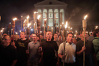 Members of the Alt-Right led a torch march thru the grounds of the University of Virginia Friday night in Charlottesville, Va. Photo/Andrew Shurtleff