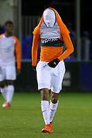 Samy Benchama of Montpellier shows his disappointment at the final whistle by pulling his shirt over his head after losing 2-1 during Chelsea Under-19 vs Montpellier HSC Under-19, UEFA Youth League Football at the Cobham Training Ground on 13th March 2019