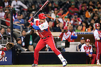 16 March 2009: #12 Michel Enriquez of Cuba is seen at bat during the 2009 World Baseball Classic Pool 1 game 3 at Petco Park in San Diego, California, USA. Cuba wins 7-4 over Mexico.