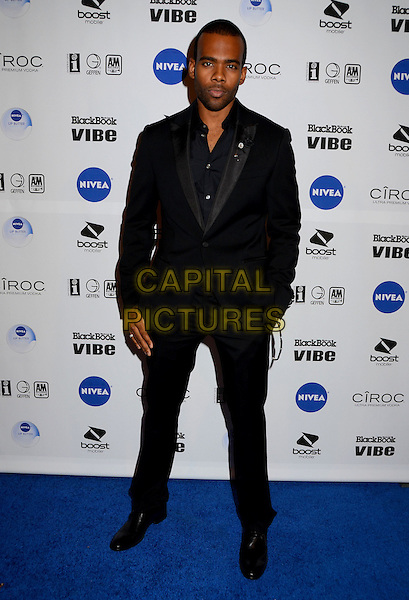 Mario Barrett.Interscope Records 2012 American Music Awards Dinner and After Party held at The Redbury Hotel, Hollywood, California, USA. .November 18th, 2012.full length black suit hand in pocket.CAP/ADM/BT.©Birdie Thompson/AdMedia/Capital Pictures.