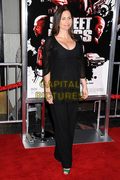 "MINNIE DRIVER.""Street Kings"" Los Angeles Premiere at Grauman's Chinese Theatre, Hollywood, California, USA, 03 April 2008 .full length black top trousers pregnant green gold necklace cleavage green open-toe shoes.CAP/ADM/BP.©Byron Purvis/Admedia/Capital PIctures"