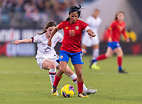 , FL - : Shirley Cruz #10 of Costa Rica dribbles during a game between  at  on ,  in , Florida.