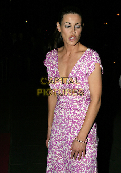 KIRSTY GALLACHER.Laurent-Perrier Pink Party,.Sanderson Hotel, London, April 27th 2005..half length funny face mouth eyes shut closed blinking gallagher.Ref: AH.www.capitalpictures.com.sales@capitalpictures.com.©Adam Houghton/Capital Pictures.