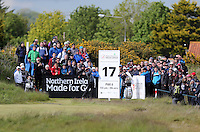 Friday 29th May 2015; Rickie Fowler, USA, tees off at the 17th<br /> <br /> Dubai Duty Free Irish Open Golf Championship 2015, Round 2 County Down Golf Club, Co. Down. Picture credit: John Dickson / SPORTSFILE