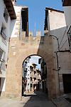 Medieval Tour.<br /> Mora de Rubielos.<br /> Portal de Rubielos.