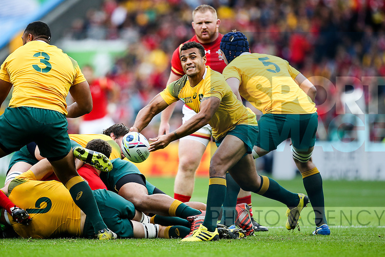 Australia's Will Genia - Rugby World Cup 2015 - Pool A - Australia v Wales - Twickenham Stadium - London- England - 10th October 2015 - Picture Charlie Forgham Bailey/Sportimage