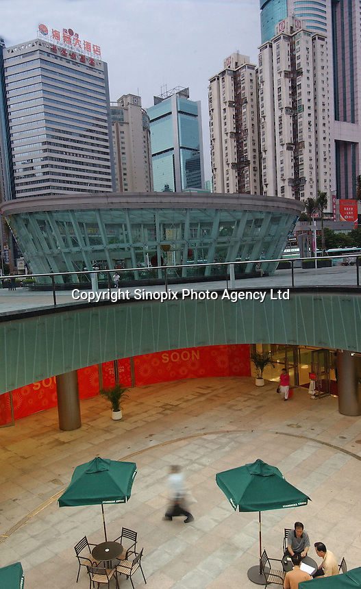 A newly constructed plaza in Shenzhen, south China..