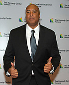 Former New York Yankee outfielder Bernie Williams arrives for the formal Artist's Dinner honoring the recipients of the 41st Annual Kennedy Center Honors hosted by United States Deputy Secretary of State John J. Sullivan at the US Department of State in Washington, D.C. on Saturday, December 1, 2018. The 2018 honorees are: singer and actress Cher; composer and pianist Philip Glass; Country music entertainer Reba McEntire; and jazz saxophonist and composer Wayne Shorter. This year, the co-creators of Hamilton, writer and actor Lin-Manuel Miranda, director Thomas Kail, choreographer Andy Blankenbuehler, and music director Alex Lacamoire will receive a unique Kennedy Center Honors as trailblazing creators of a transformative work that defies category.<br /> Credit: Ron Sachs / Pool via CNP