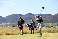 Emmet Savage playing with Darren Clarke (NIR) during the ProAm of the 2018 Dubai Duty Free Irish Open, Ballyliffin Golf Club, Ballyliffin, Co Donegal, Ireland.<br /> Picture: Golffile | Jenny Matthews<br /> <br /> <br /> All photo usage must carry mandatory copyright credit (&copy; Golffile | Jenny Matthews)