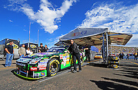 Nov. 9, 2008; Avondale, AZ, USA; The car of NASCAR Sprint Cup Series driver Travis Kvapil goes through inspection prior to the Checker Auto Parts 500 at Phoenix International Raceway. Mandatory Credit: Mark J. Rebilas-